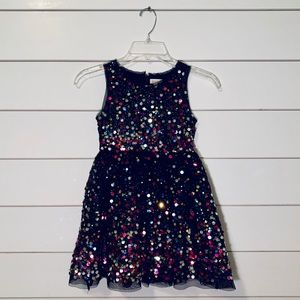 Cat & Jack Sequin Embellished Party Dress | S 6-6X